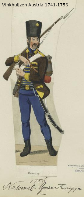 Austrian Uniforms Vinkhuijzen collection NYPL Vinkhu13
