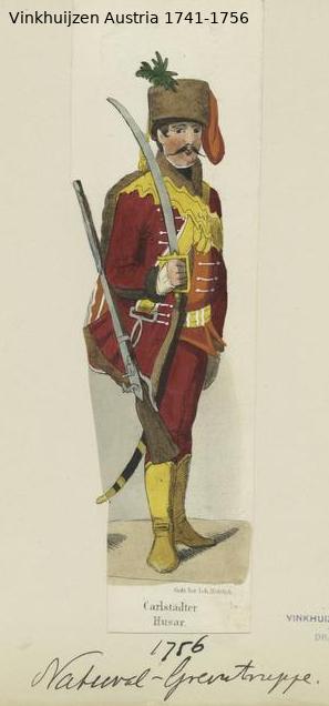 Austrian Uniforms Vinkhuijzen collection NYPL Vinkhu14