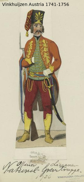 Austrian Uniforms Vinkhuijzen collection NYPL Vinkhu15
