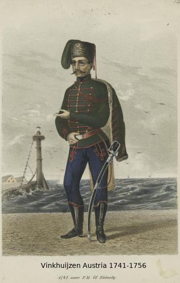 Austrian Uniforms Vinkhuijzen collection NYPL Vinkhu18