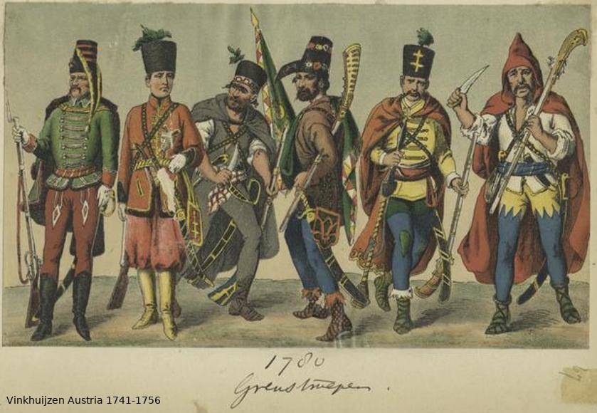 Austrian Uniforms Vinkhuijzen collection NYPL Vinkhu19