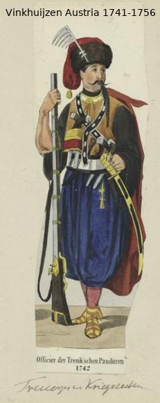 Austrian Uniforms Vinkhuijzen collection NYPL Vinkhu20