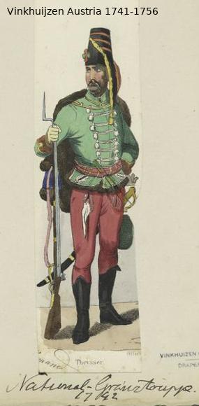 Austrian Uniforms Vinkhuijzen collection NYPL Vinkhu23