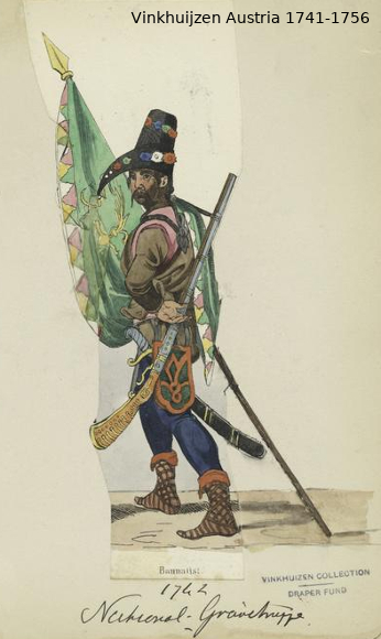 Austrian Uniforms Vinkhuijzen collection NYPL Vinkhu25