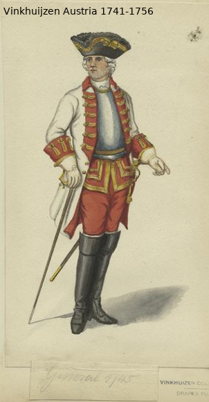 Austrian Uniforms Vinkhuijzen collection NYPL Vinkhu28