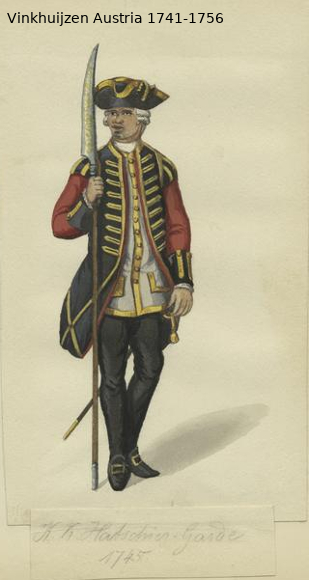 Austrian Uniforms Vinkhuijzen collection NYPL Vinkhu29