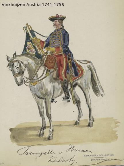Austrian Uniforms Vinkhuijzen collection NYPL Vinkhu31