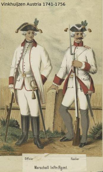 Austrian Uniforms Vinkhuijzen collection NYPL Vinkhu36