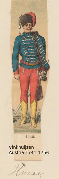 Austrian Uniforms Vinkhuijzen collection NYPL Vinkhu38