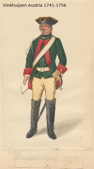 Austrian Uniforms Vinkhuijzen collection NYPL Vinkhu39