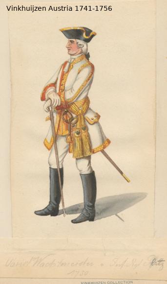 Austrian Uniforms Vinkhuijzen collection NYPL Vinkhu41