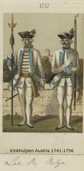 Austrian Uniforms Vinkhuijzen collection NYPL Vinkhu48