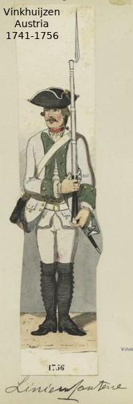 Austrian Uniforms Vinkhuijzen collection NYPL Vinkhu49