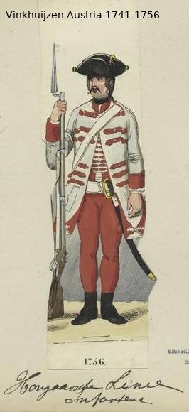 Austrian Uniforms Vinkhuijzen collection NYPL Vinkhu50
