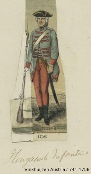 Austrian Uniforms Vinkhuijzen collection NYPL Vinkhu51