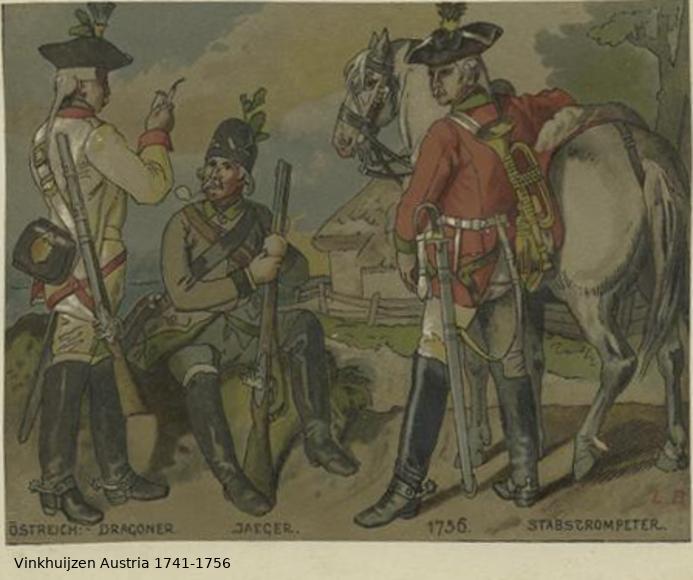 Austrian Uniforms Vinkhuijzen collection NYPL Vinkhu52