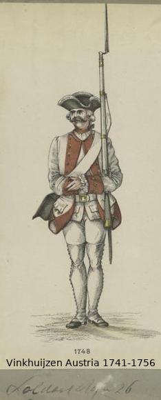Austrian Uniforms Vinkhuijzen collection NYPL Vinkhu55
