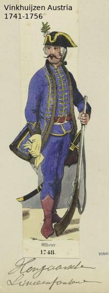 Austrian Uniforms Vinkhuijzen collection NYPL Vinkhu58
