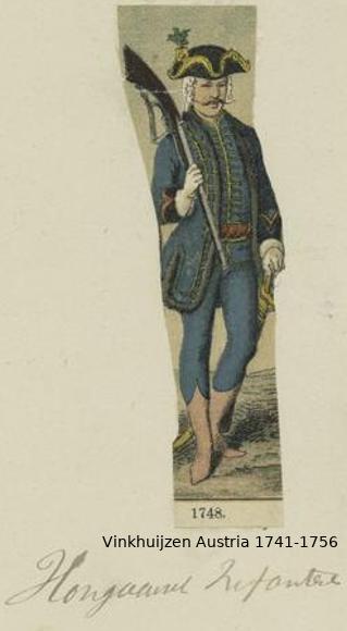 Austrian Uniforms Vinkhuijzen collection NYPL Vinkhu59