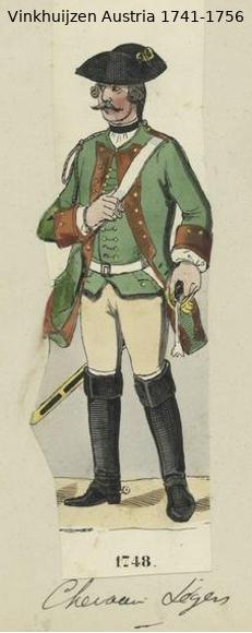 Austrian Uniforms Vinkhuijzen collection NYPL Vinkhu60
