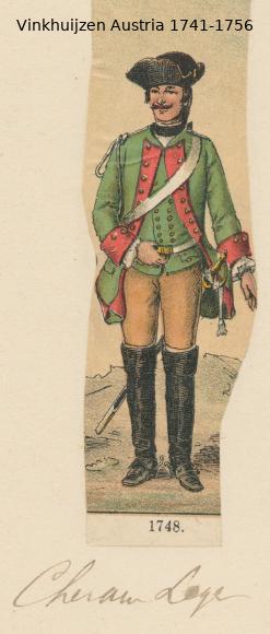 Austrian Uniforms Vinkhuijzen collection NYPL Vinkhu61