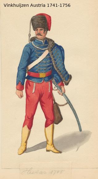 Austrian Uniforms Vinkhuijzen collection NYPL Vinkhu62