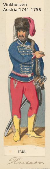 Austrian Uniforms Vinkhuijzen collection NYPL Vinkhu63
