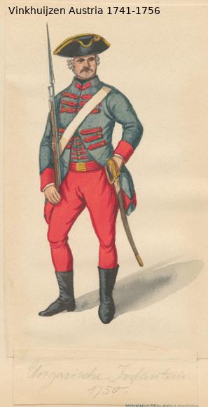 Austrian Uniforms Vinkhuijzen collection NYPL Vinkhu64