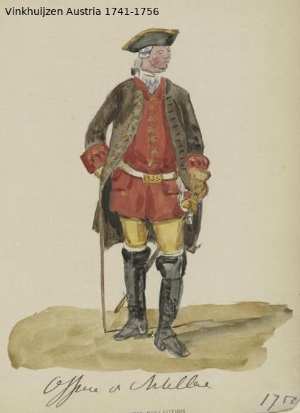 Austrian Uniforms Vinkhuijzen collection NYPL Vinkhu67