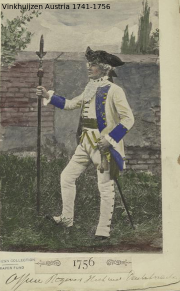 Austrian Uniforms Vinkhuijzen collection NYPL Vinkhu72