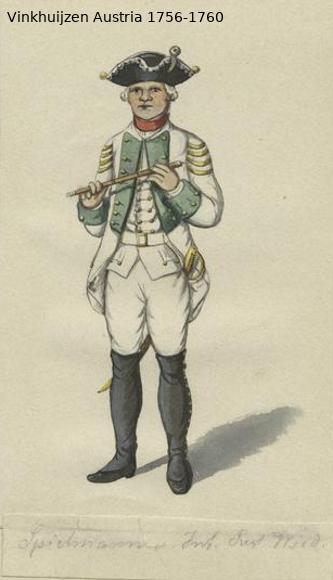 Austrian Uniforms Vinkhuijzen collection NYPL Vinkhu73