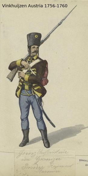 Austrian Uniforms Vinkhuijzen collection NYPL Vinkhu74