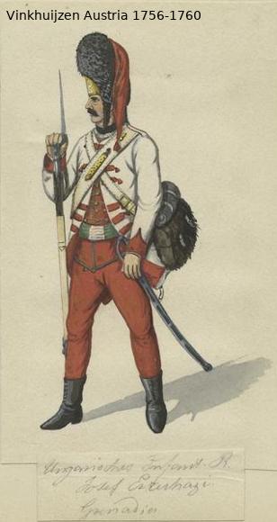 Austrian Uniforms Vinkhuijzen collection NYPL Vinkhu76