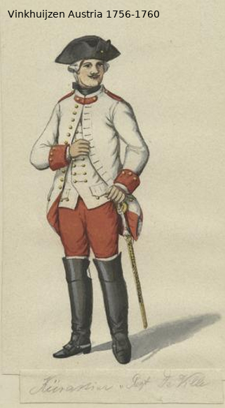 Austrian Uniforms Vinkhuijzen collection NYPL Vinkhu79