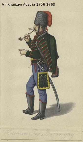 Austrian Uniforms Vinkhuijzen collection NYPL Vinkhu84