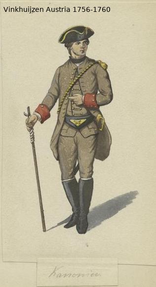 Austrian Uniforms Vinkhuijzen collection NYPL Vinkhu87