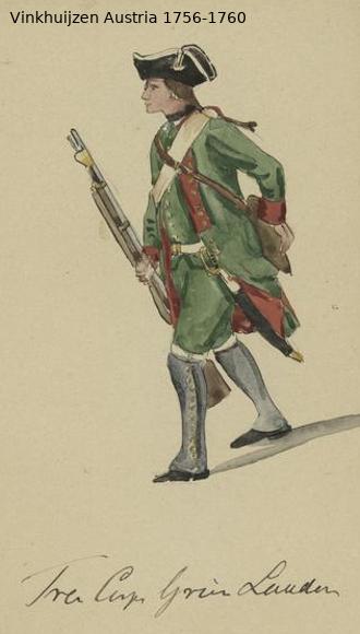 Austrian Uniforms Vinkhuijzen collection NYPL Vinkhu90