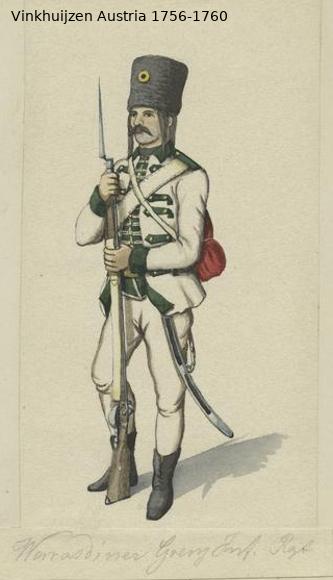 Austrian Uniforms Vinkhuijzen collection NYPL Vinkhu97