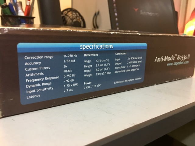 DSPeaker Anti-Mode 8033S-II Automatic Subwoofer Equalizer