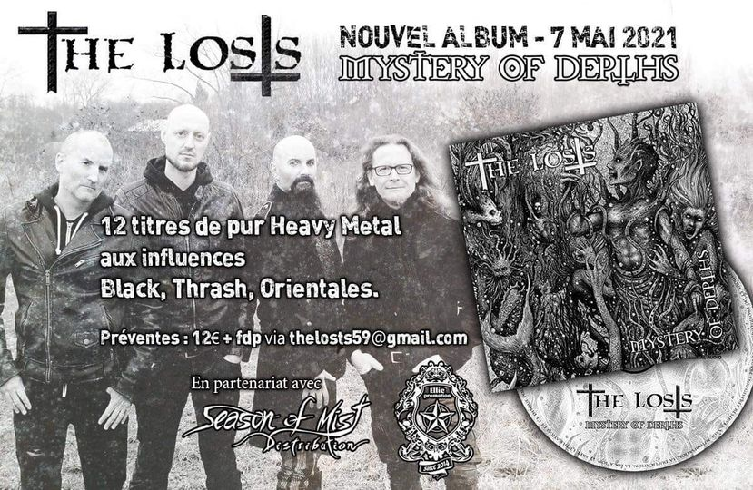 "The Losts""Mystery Of Depths"" 2021 heavy métal/thrash 16607110"