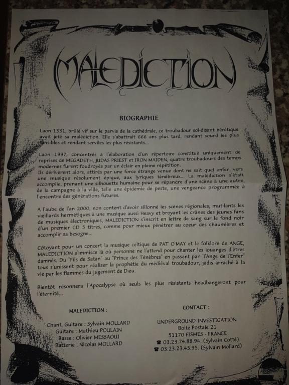 """Vers peut-être une réédition de MALEDICTION """"condamnés"""" 20200520"""