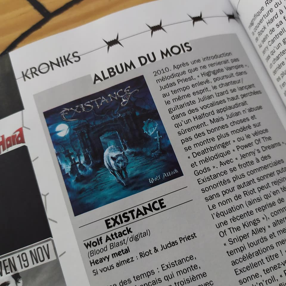 EXISTANCE (Heavy Metal)  Wolf Attack, le 29 Octobre 2021  24461410