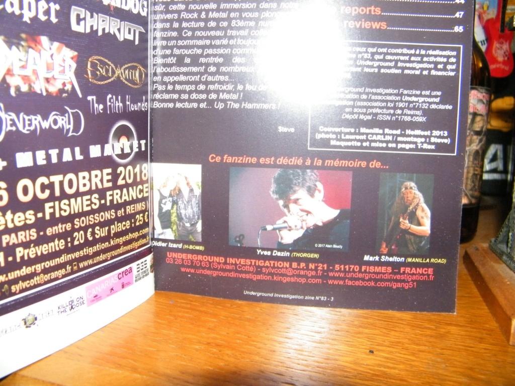 Le fanzine UNDERGROUND INVESTIGATION 40614310