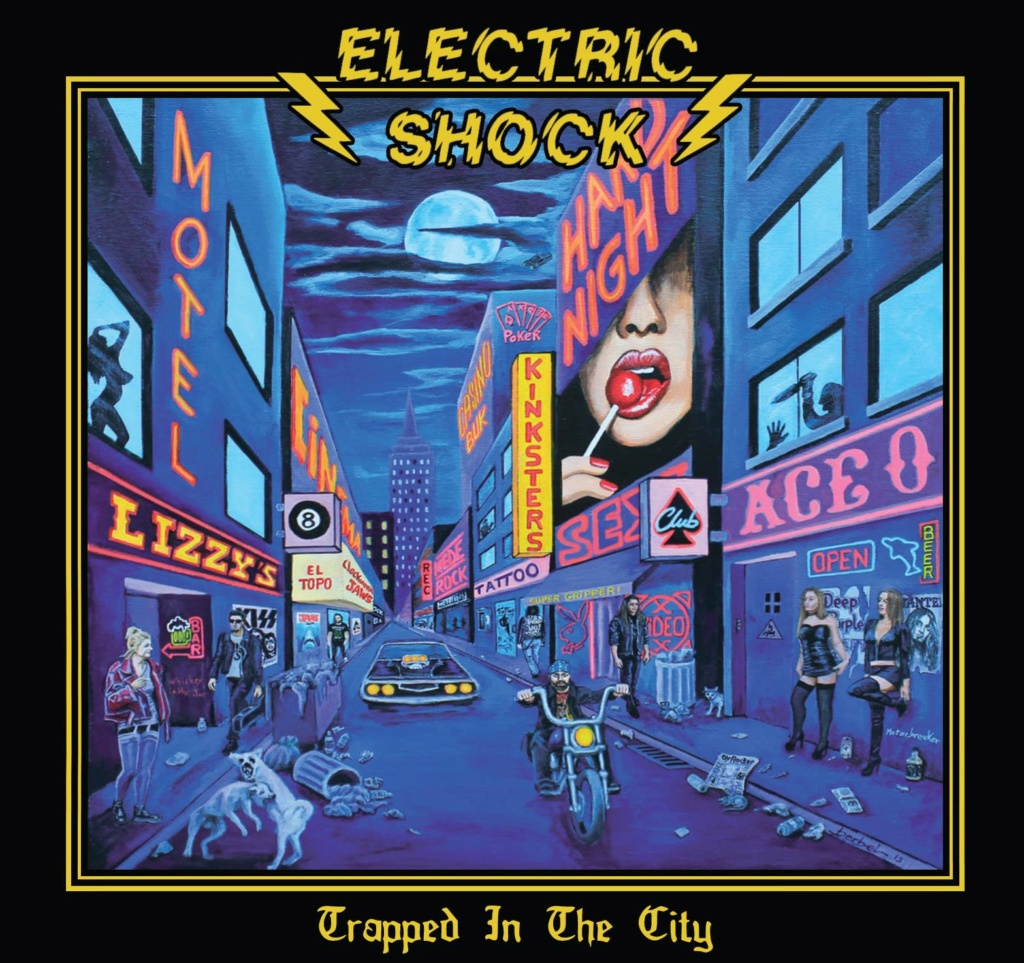 "Electric shock ""trapped in the city"" rock'n'roll/hard rock 2019 53745010"