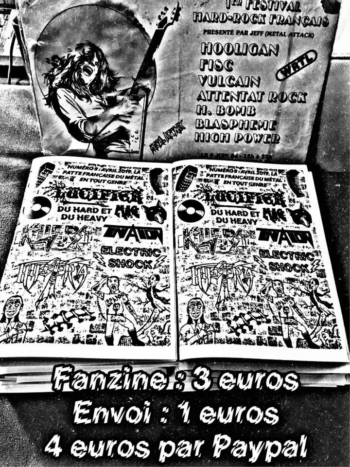 """nouveau mag de lucifer"""" hard rock metal francais""""dispo 57608710"""