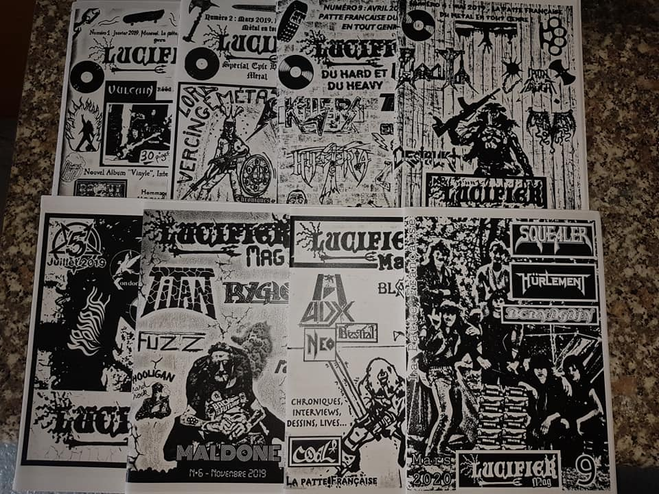 """nouveau mag de LUCIFER hard rock metal francais""""dispo 96392010"""
