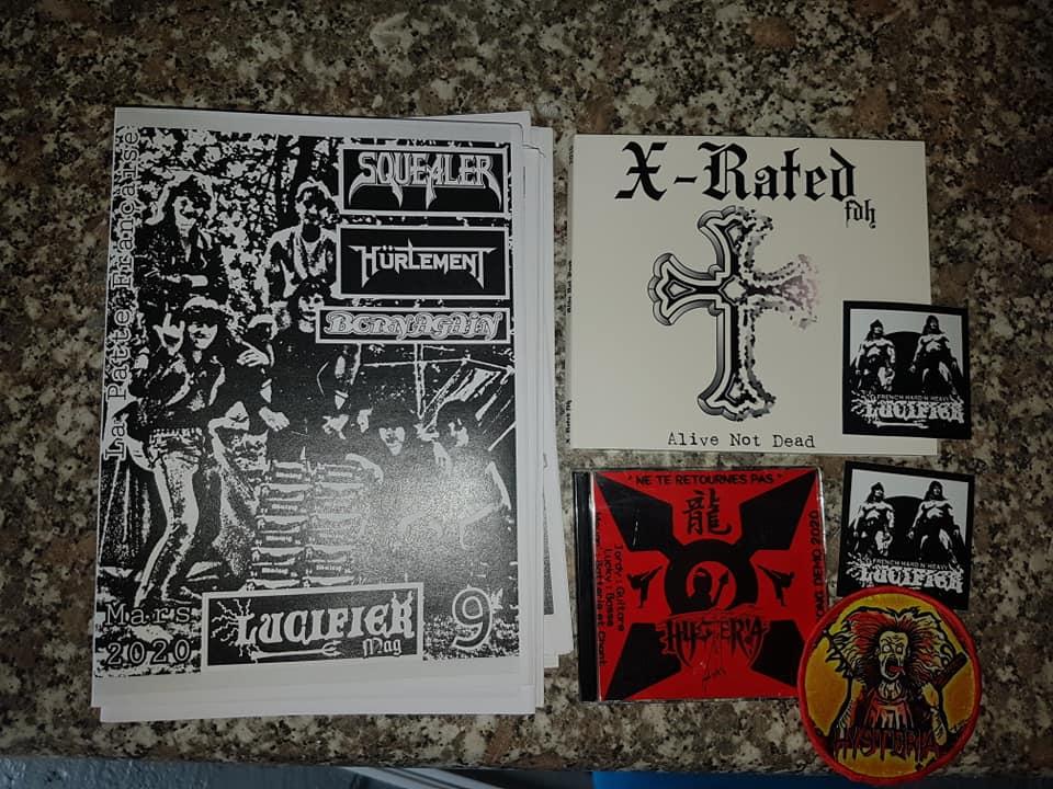 """nouveau mag de LUCIFER hard rock metal francais""""dispo 96553610"""
