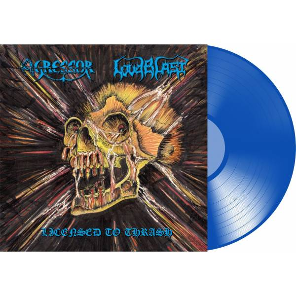 "sorti réédition Agressor/Loudbalst lp 2019 trash/metal ""licensed to thrash"" Agress10"