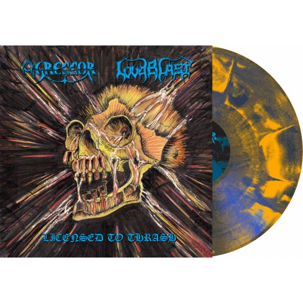 "sorti réédition Agressor/Loudbalst lp 2019 trash/metal ""licensed to thrash"" Agress11"