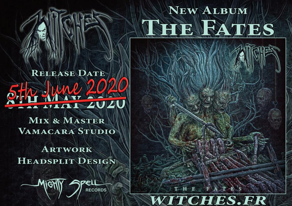 """WITCHES (Thrash) annonce un nouvel album : """"The Fates"""" Flyera10"""